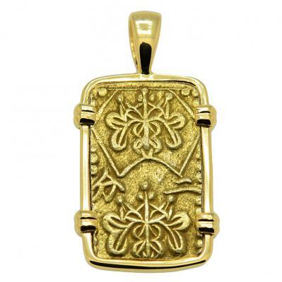 SOLD Shogun Nibu Kin Pendant; Please Explore Our Japanese Pendants For Similar Items.