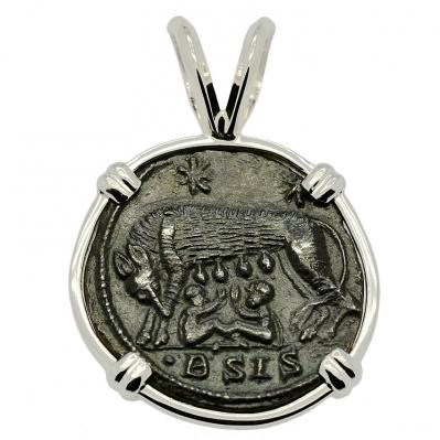 SOLD She Wolf and Roma Nummus Pendant; Please Explore Our Roman Category For Similar Items.