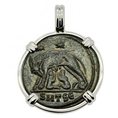 SOLD She Wolf & Roma Nummus Pendant; Please Explore Our Roman Category For Similar Items.