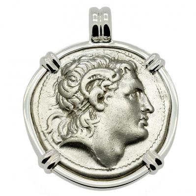 SOLD Alexander the Great and Athena Tetradrachm Pendant. Please Explore Our Greek Pendants For Similar Items.