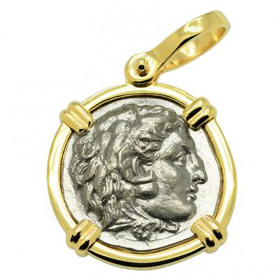 Alexander the Great Drachm Pendant