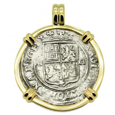 SOLD Golden Fleece Shipwreck 2 Reales Pendant; Please Explore Our Spanish Treasure Pendants For Similar Items.
