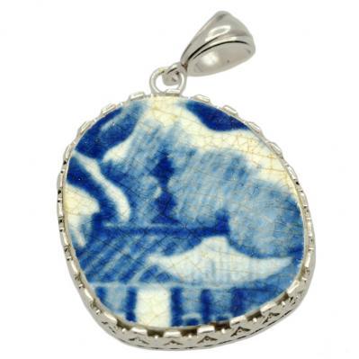 Caribbean Shipwreck Pottery Pendant