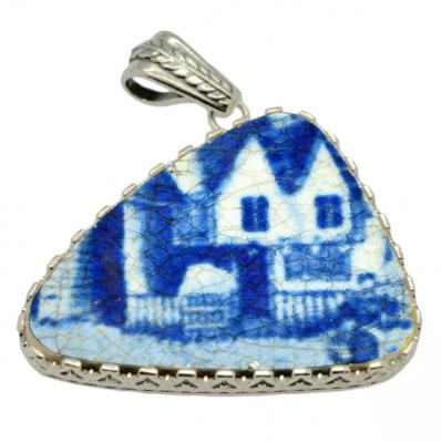 SOLD Caribbean Shipwreck Pottery Pendant, Please Explore Our Pottery Pendants For Similar Items.