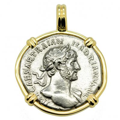 SOLD Emperor Hadrian Denarius Pendant; Please Explore Our Roman Pendants For Similar Items.