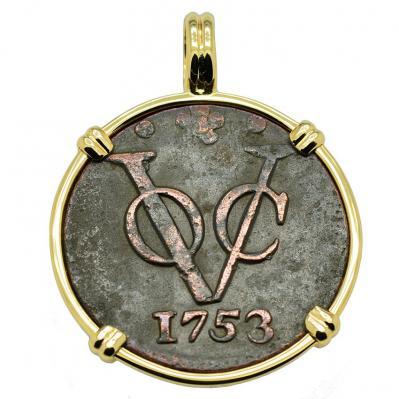 Dutch VOC Duit Pendant