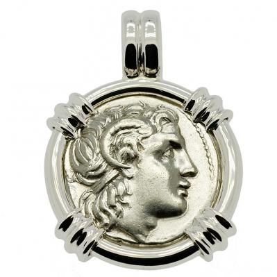 Alexander the Great & Athena Drachm Pendant