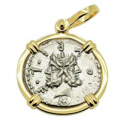 Janus & Roma Denarius Pendant