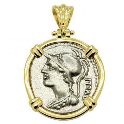Minerva & Victory Denarius Pendant
