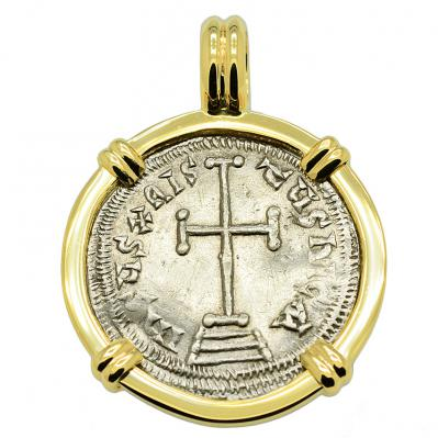 SOLD Constantine VI Cross Miliaresion Pendant; Please Explore Our Byzantine Pendants For Similar Items.