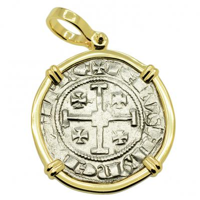 SOLD King Hugh IV Crusader Gros Pendant. Please Explore Our Medieval Pendants For Similar Items.