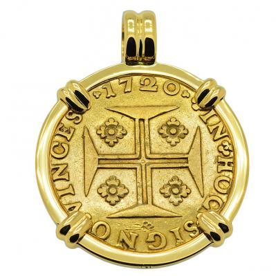 SOLD Portuguese 4000 Reis Pendant; Please Explore Our Gold Coin Pendants For Similar Items.