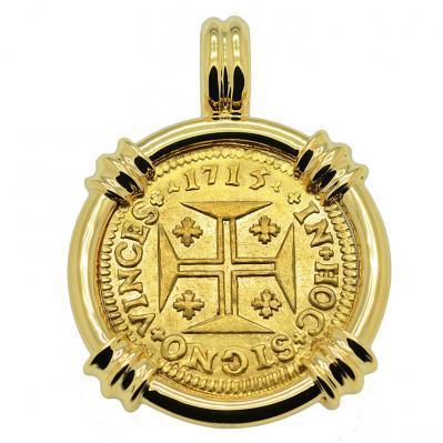 SOLD Portuguese 1000 Reis Pendant. Please Explore Our Gold Coin Pendants For Similar Items.