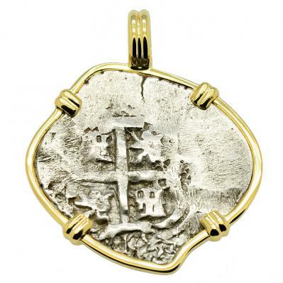 King Philip V Spanish 1 Real Pendant
