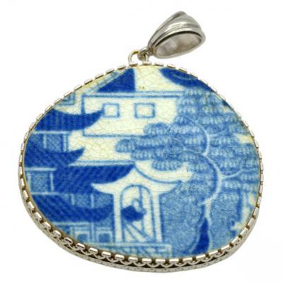 SOLD Caribbean Shipwreck Pottery Pendant; Please Explore Our Pottery Pendants For Similar Items.