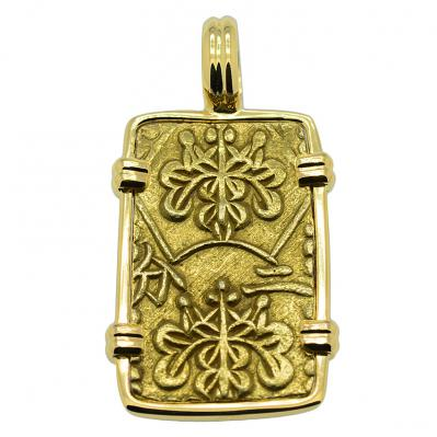 SOLD Shogun Nibu Kin Pendant. Please Explore Our Japanese Pendants For Similar Items.