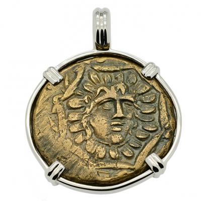 SOLD Medusa and Nike Pendant. Please Explore Our Greek Pendants For Similar Items.
