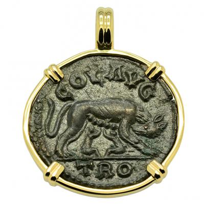 She Wolf and Tyche Pendant
