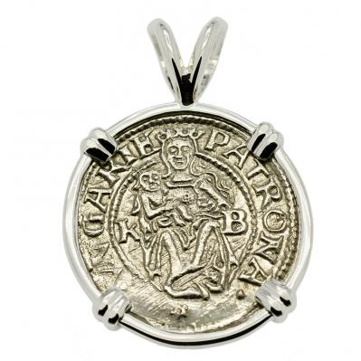 SOLD Madonna and Child Denar Pendant. Please Explore Our Medieval Category For Similar Items.