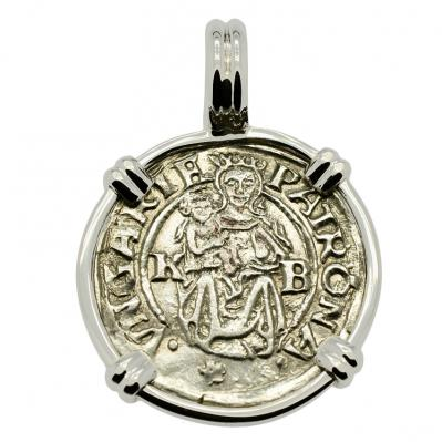 SOLD Madonna and Child Denar Pendant  Please Explore Our Medieval Category  For Similar Items