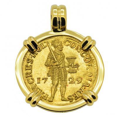 SOLD Vliegenthart Shipwreck Ducat Pendant; Please Explore Our Gold Coin Pendants For Similar Items.