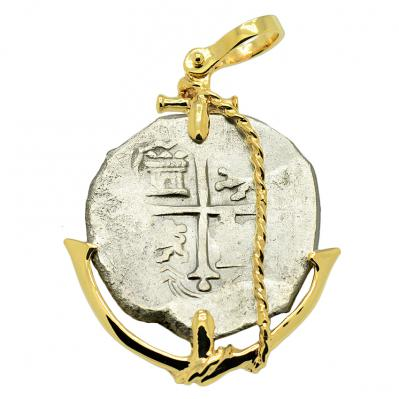 SOLD Sao Jose Shipwreck 4 Reales Pendant. Please Explore Our Spanish Treasure Pendants For Similar Items.