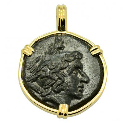SOLD Perseus and Eagle Pendant. Please Explore Our Greek Pendants For Similar Items.