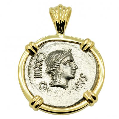 SOLD Venus Denarius Pendant. Please Explore Our Roman Pendants For Similar Items.