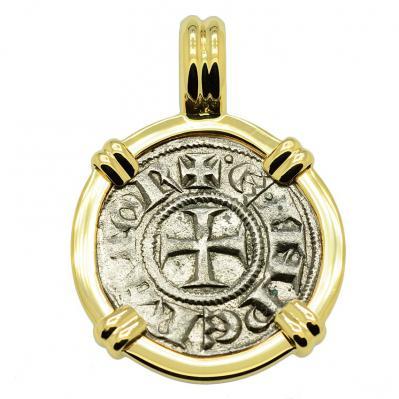 SOLD King Henry VI Crusader Cross Denaro Pendant. Please Explore Our Medieval Pendants For Similar Items.