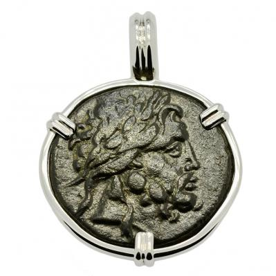 Asclepius and Serpent Staff Pendant