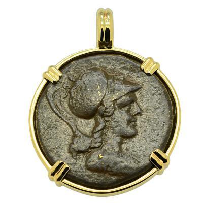 Athena and Eagle Pendant