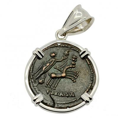 SOLD Constantine Hand of God Follis Pendant. Please Explore Our Roman Pendants For Similar Items.
