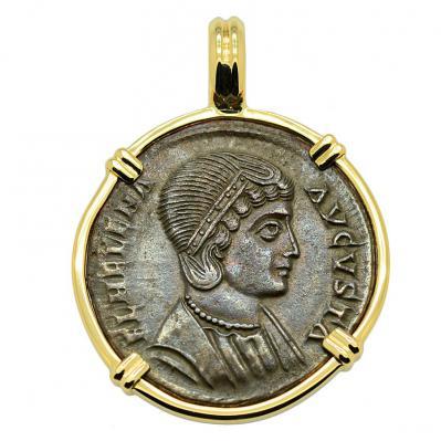 SOLD Saint Helena Follis Pendant. Please Explore Our Roman Pendants For Similar Items.
