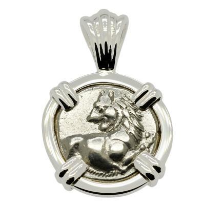 Greek Lion Hemidrachm Pendant