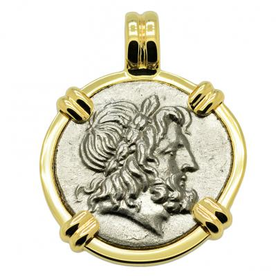 SOLD Zeus and Athena Stater Pendant. Please Explore Our Greek Pendants For Similar Items.
