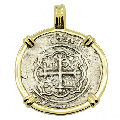 King Philip II Spanish 1 Real Pendant