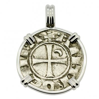 SOLD Crusader Cross Denier Pendant. Please Explore Our Medieval Pendants For Similar Items.