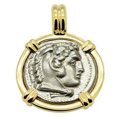 SOLD Alexander the Great Drachm Pendant. Please Explore Our Greek Pendants For Similar Items.