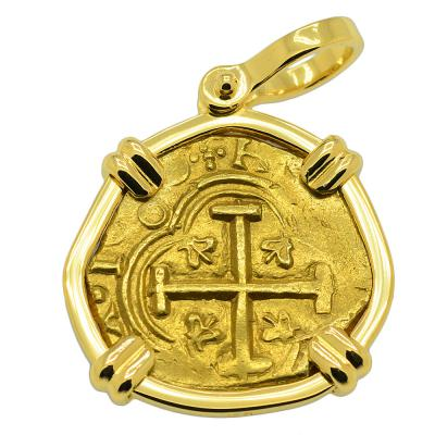 King Philip IV Two Escudos Doubloon Pendant