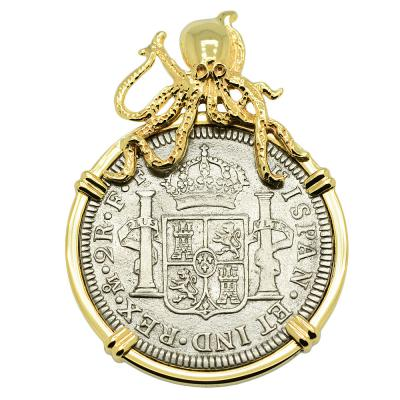 SOLD El Cazador Shipwreck 2 Reales Pendant. Please Explore Our Spanish Treasure Pendants For Similar Items.
