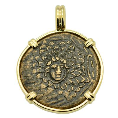 SOLD Medusa and Nike Pendant. Please Explore Our Greek Pendants For Similar Items.
