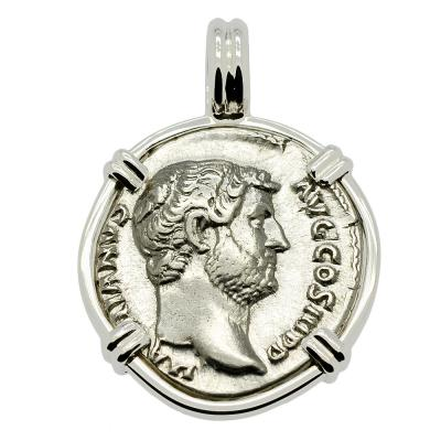 SOLD Emperor Hadrian and Victory Denarius Pendant. Please Explore Our Roman Pendants For Similar Items.