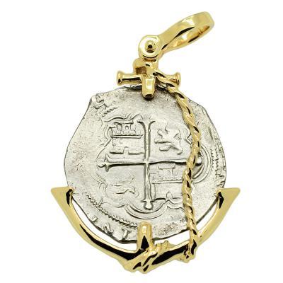SOLD King Philip III Spanish 2 Reales Pendant. Please Explore Our Spanish Treasure Pendants For Similar Items.
