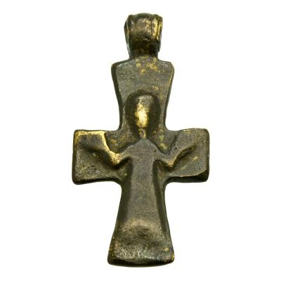 SOLD Byzantine Virgin Mary Bronze Cross Pendant. Please Explore Our Byzantine Category For Similar Items.