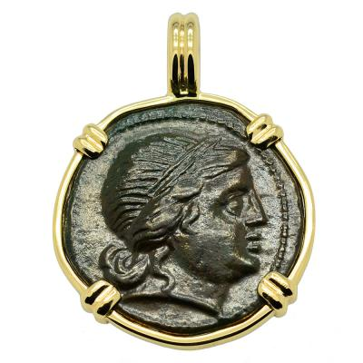 Amazon and Athena Coin Pendant