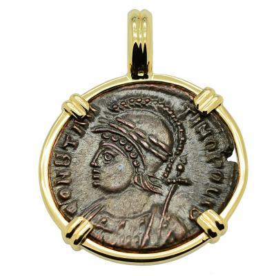 Constantinopolis and Victory Nummus Pendant