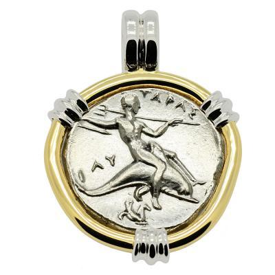 SOLD Boy on Dolphin Nomos Pendant. Please Explore Our Greek Pendants For Similar Items.