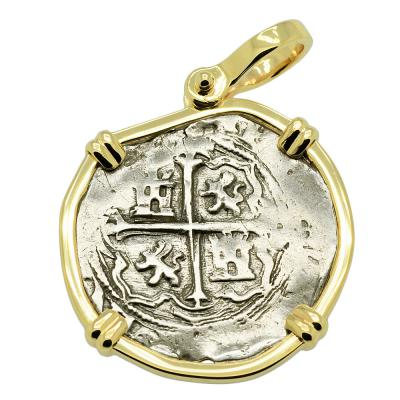 King Philip II Spanish 1 Real Pendant