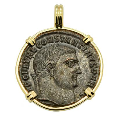 SOLD Constantine the Great and Jupiter Pendant. Please Explore Our Roman Pendants For Similar Items.