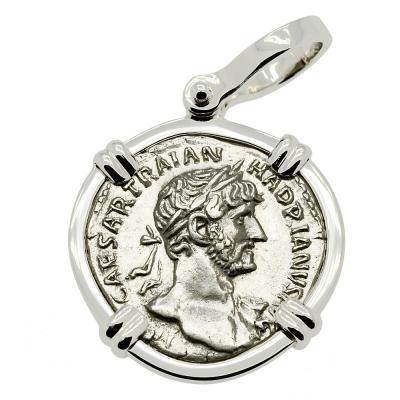 Emperor Hadrian Denarius Pendant
